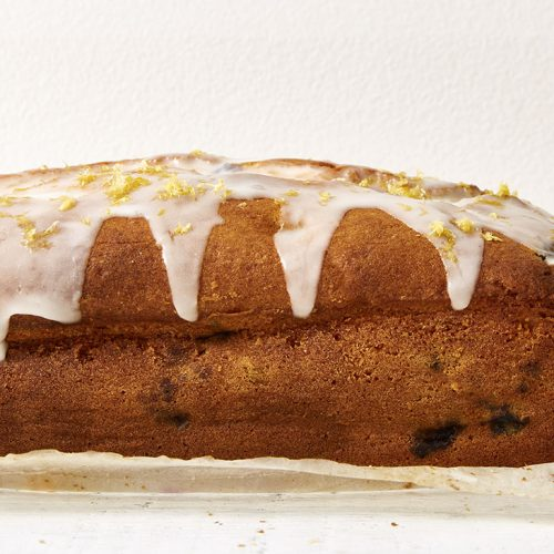 Lemon Blueberry Loaf with Lemon Glaze