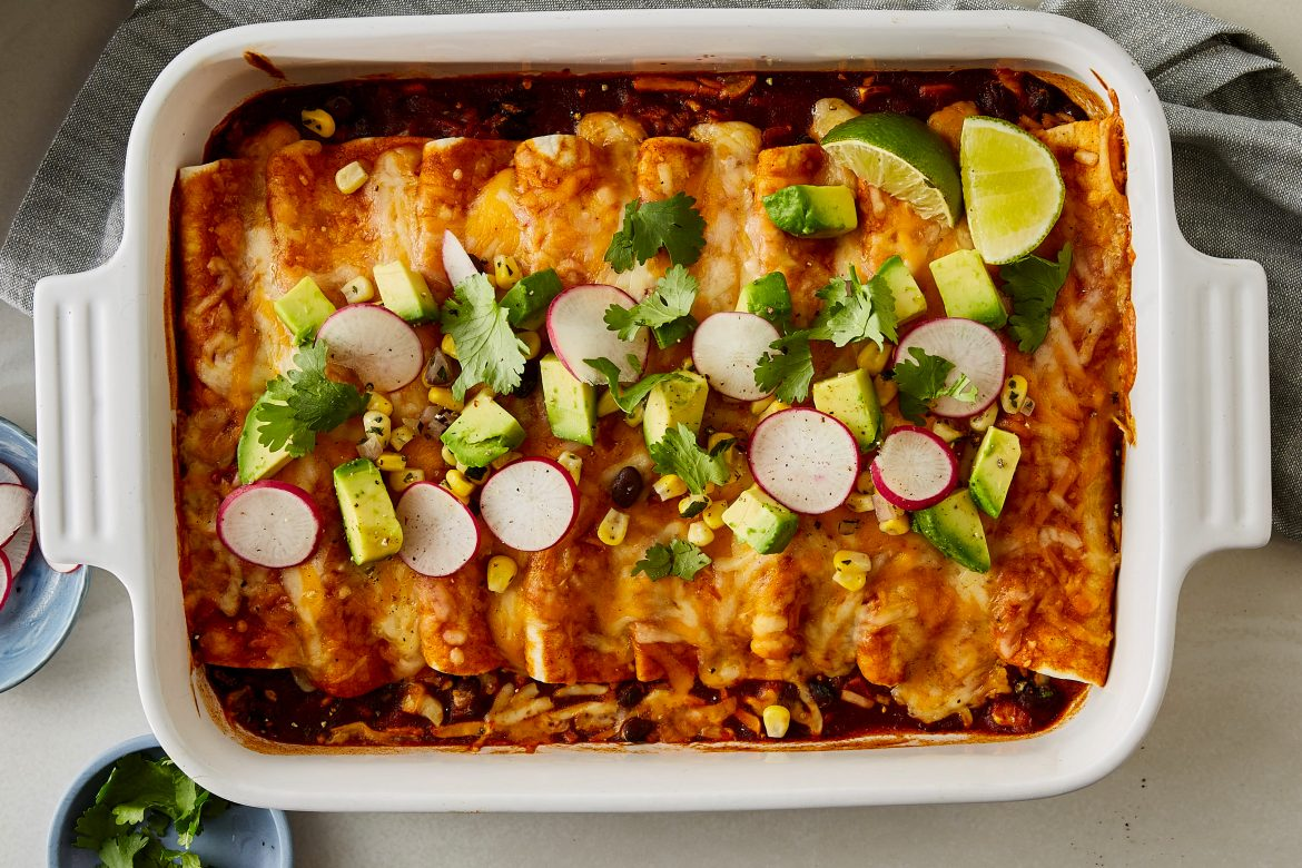 Cheesy Pantry Enchiladas